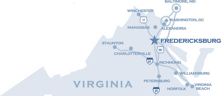 Fredericksburg Virginia Map.Fredericksburg Virginia Region Coldwell Banker Commercial Elite